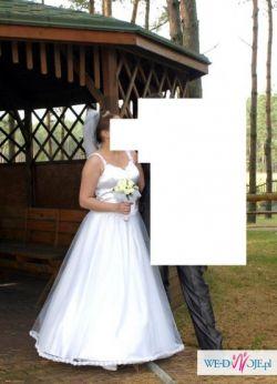 Klasyczna suknia ślubna+dodatki!!!