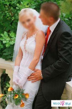kobieca suknia ślubna dla Calineczki :-)