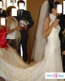 Kobieca, zachwycająca suknia ślubna PRONOVIAS Laris