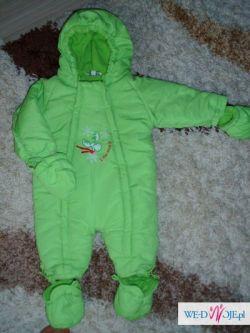kombinezon śpiworek zielony 68 zimowy
