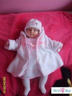 Komplecik do chrztu dla małej księżniczki