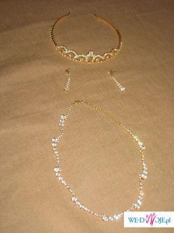 komplet biżuterii Jablonex w kolorze złota