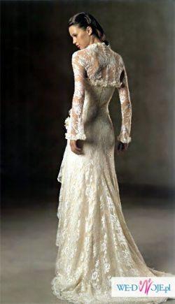 Koronkowa Hiszpańska Suknia ślubna Pronovias Model Turner Rozmiar