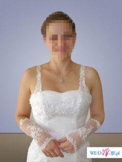 koronkowa piękna suknia ślubna 36/38