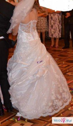 koronkowa przepiękne oryginalna suknia ślubna