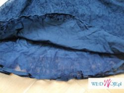 Koronkowa sukienko tunika styl retro gothic