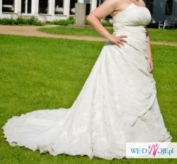 koronkowa suknia+bolerko+woalka+halka