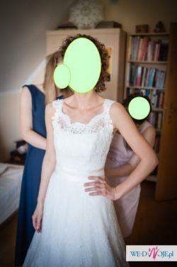 koronkowa suknia Nabla Susan z trenem ( przód modelu Fayette)