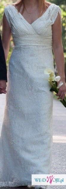Koronkowa suknia ślubna!