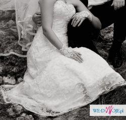 Koronkowa suknia ślubna 36-38