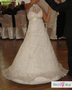 koronkowa suknia ślubna 38- okazja !!!