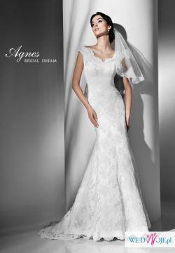 Koronkowa suknia ślubna AGNES 2012 ecri 36