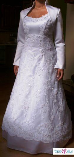 Koronkowa suknia ślubna-GRATISY!