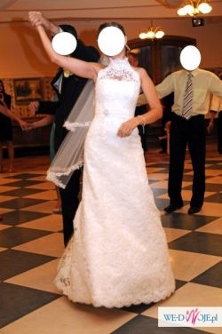 Koronkowa suknia ślubna PIĘKNA!!!