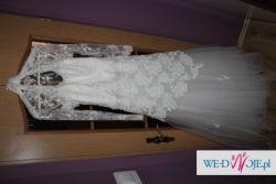 Koronkowa suknia ślubna r.40