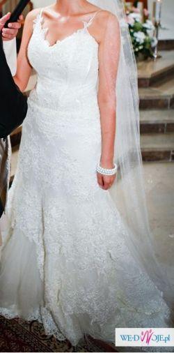 Koronkowa Suknia Ślubna +Welon