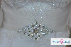 Koronkowa suknia ślubna+ welon