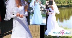 koronkowa suknia ślubna, welon, bolerko - 700 zł!