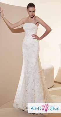 Koronkowa suknia ślubna White One 424 z salonu Madonna