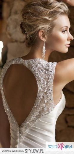 KORONKOWA suknia ślubna - wycięte plecy