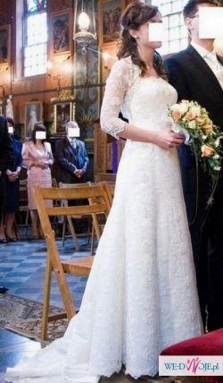 koronkowa suknia ślubna z kolekcji Gala model Etana