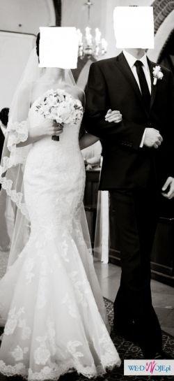 Koronkowa suknia ślubna z salonu MADONNA