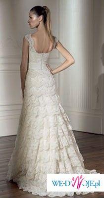 koronkowa suknia ślubna z salonu Madonna, kolekcja Pronovias, model Dehesa, r.36