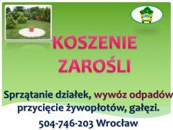 Koszenie działki, tel 504-746-203, przycięcie żywopłotu, tui, ogrodnik, cena