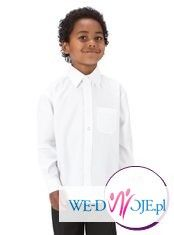 Koszula dla chłopca.Biała ,wizytowa.Roz.122.Nowa