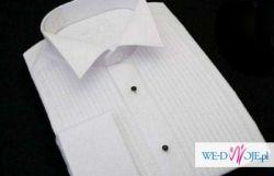 784a48d601a6d2 Koszula ślubna z plisami, plisowana biała r.38/39 Trafox slim line ...