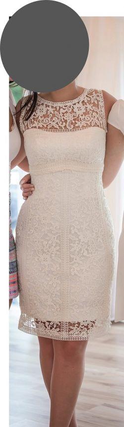Krótka ołówkowa koronkowa sukienka