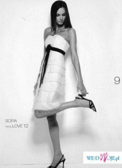 Krótka suknia CYMBELINE, model SOFIA, rozmiar 34-36  - piękna!!!