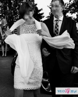 Krótka suknia Pronovias Glass - rozmiar 38