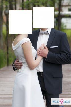 Krótka suknia ślubna o klasycznym kroju
