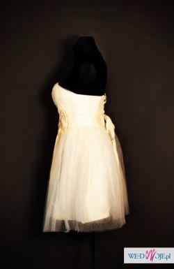 Krótka suknia ślubna poprawiny ślub cywilny