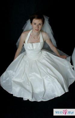 Krótka suknia ślubna w rozmiarze 34