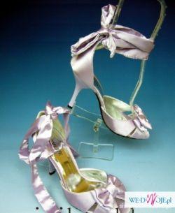 lawendowe buty wiązane rozm.39