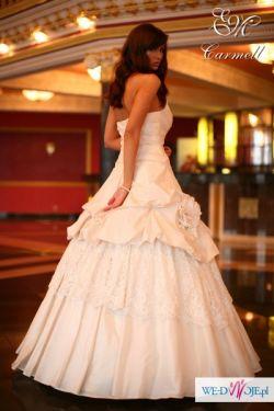 LIKWIDACJA SALONU !! NOWA SUKNIA ŚLUBNA CARMEL EMMI MARIAGE Rozmiar 38