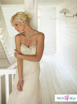 Linea Raffaelli bajeczna jedwabna suknia ślubna 38 NOWA