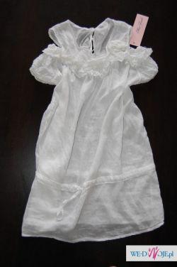 M Nowa biała cieniutka tunika POZNAŃ