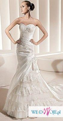 Mam do sprzedania suknię ślubną  firmy LaSposa, model Madeira 2011