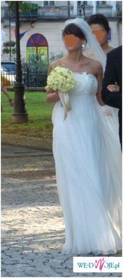 MANUEL MOTA- zwiewna  suknia...