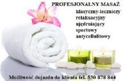 Masaż leczniczy i relaksacyjny Warszawa