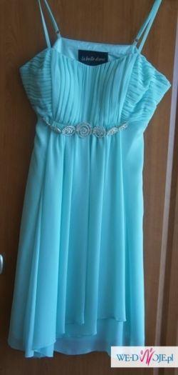 Miętowa sukienka 38