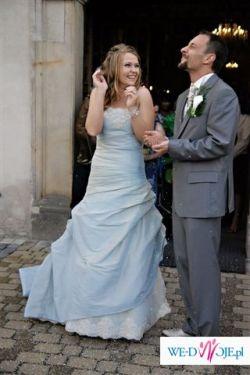Modeca suknia ślubna w kolorze blue, rozmiar 38-40