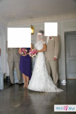MON CHERI Skunia Ślubna `36-38
