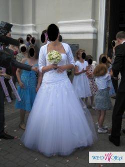Mon Cheri z przeróbkami piękna suknia ślubna