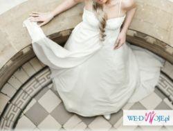 muślinowa suknia ślubna