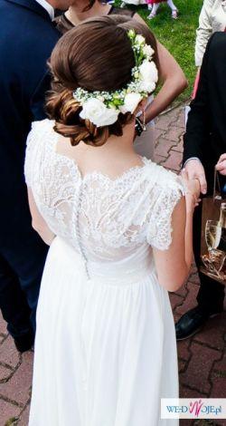 3966ba7f25 Muślinowa suknia ślubna Afrodyta   8211  Sprzedam!!! - Suknie ślubne ...