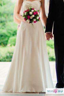Muślinowa suknia ślubna Julia Rosa, r. 34-36 GRATIS buty ślubne